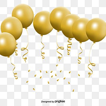 Vector Golden Balloon Colored Ribbon Festival Decoration Png Transparent Clipart Image And Psd File For Free Download Gold Balloons Celebration Balloons Happy Birthday Balloon Banner
