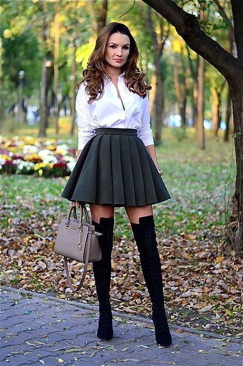 Thigh High Boots Outfit Street Style Ideas 48 - Thigh High Boots Outfit Street Style Ideas 48 Source by -