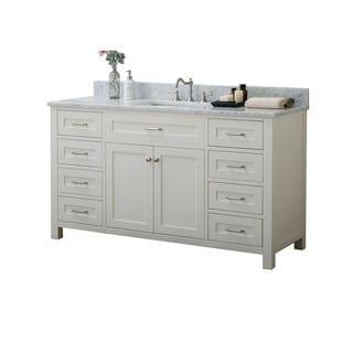 Furnishmore Springfield Wood 60 Inch Single Bathroom Vanity Off White Marble Vanity Tops Single Bathroom Vanity Vanity