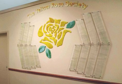 Glass Rose Sid Jacobson JCC East Hill NY The Yellow Rose Society ...