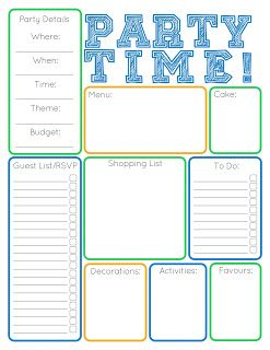 party planner templates