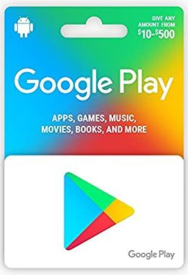 Amazon Com Google Play Gift Card 50 Gift Cards Google Play Gift Card Google Play Codes Google Play