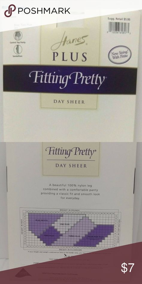 Hanes Pretty Day Sheer Pantyhose SZ Two Plus Jet Hanes Plus Fitting  Pretty Day  Sheer Pantyhose  Size Two Plus  Color Jet  New Old Stock Hanes Other