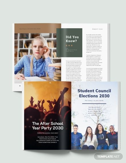 Free Editable Student Magazine Template Indesign Word Apple Pages Template Net Student Magazines Student Elementary School Counseling