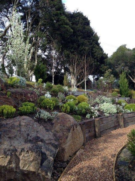 Top 50 Best Slope Landscaping Ideas Hill Softscape Designs Sloped Backyard Landscaping Sloped Garden Steep Hillside Landscaping