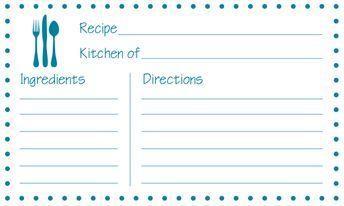 Free Printable Recipe Cards Printable Recipe Cards Recipe Cards