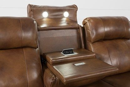 Phelps Leather Power Reclining Sofa With Power Headrest Usb Power Reclining Sofa Power Recliners Reclining Sofa