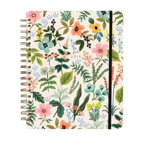 Rifle Paper Co 17 Month Agenda 2018 (Spiral Planner) (Jumbo, Herb Garden): The perfect size for carrying around, our planner is both beautiful and functional. It features illustrated covers with a hard-covered metallic spiral binding and elastic closure.