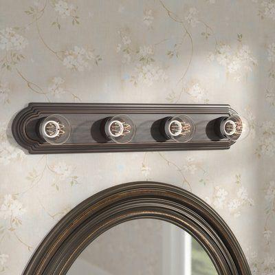 Charlton Home Weehawken 4 Light Bath Bars Bath Bar Charlton Home Accent Mirrors