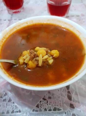 شوربة الحريرة الليبية على طريقتي بالصور من حنان نصار Recipe Soup