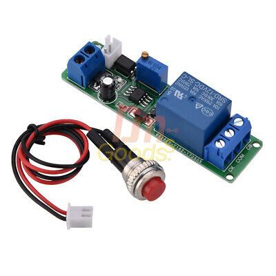 Dc 12v Timer Turn Off Time Relay Delay Timing Adjustable Module Trigger Switch In 2020 Timer Relay Turn Ons