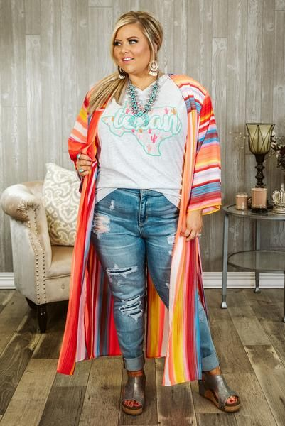 Curvy Sedona Skies Plus Size Cardigan Duster, Multi in 2019 ...