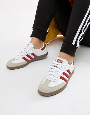 nouveau produit 773bf 86b33 adidas Originals - Samba OG - Baskets - Blanc et rouge ...