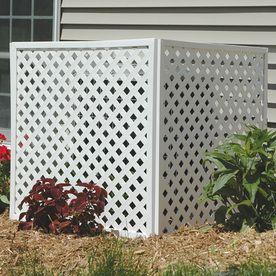 Deckorators 3 4 In X 1 In X 8 Ft White Plastic Lattice Cap Lowes Com Plastic Lattice Deckorators Vinyl Lattice Panels