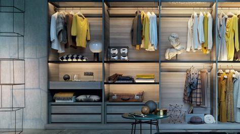 Mobilier dormitor Dressing LEMA - Armadio al centimetro | Dressing ...