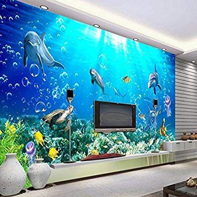 Wapel Children Room Large 3d Underwater World Super Clear Murals Decoration Bedroom Living Room Video Wal Wall Wallpaper Custom Photo Wallpaper Mural Wallpaper