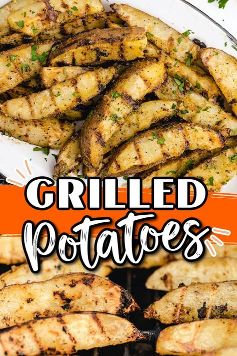 These are the BEST Grilled Potatoes recipe ever! It is the easiest side dish to go with your next barbecue meal. Simply coat your potato wedges with the tasty homemade marinade and toss them on the grill with your chicken or burgers.