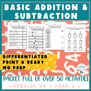 Back To School Home Learning Packet Addition Subtraction Worksheets In 2020 Addition And Subtraction Addition And Subtraction Worksheets Basic Math Skills