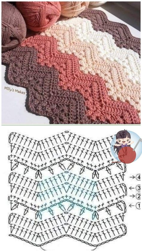 Crochet Bedspread Pattern, Granny Square Crochet Pattern, Crochet Diagram, Crochet Stitches Patterns, Crochet Chart, Crochet Designs, Stitch Patterns, Knitting Patterns, Free Crochet Square