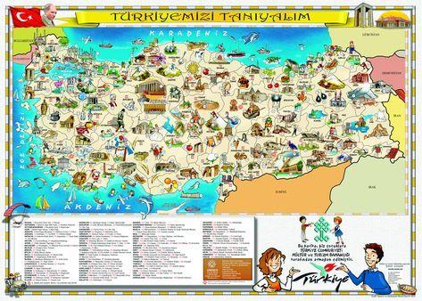 Turkiye Mizi Taniyalim Haritasi Turizm Harita Haritalar