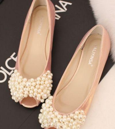 Baleriny Slubne Gdzie Kupic Perelki Slub Baleriny Wedding Shoes Flats Bride Shoes Wedding Shoes Flats Pink