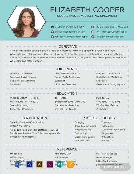 Free Social Media Specialist Resume Cv Template Word Doc Psd Indesign Apple Mac Pages Illustrator Publisher Marketing Resume Resume Examples Media Specialist
