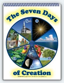 poster of the 7 days of creation for kids | ... Bible First - Products -  Visualized Song: The Seven Day… | Days of creation, 7 days of creation,  Creation activities
