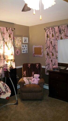 Pink camo realtree nursery decor