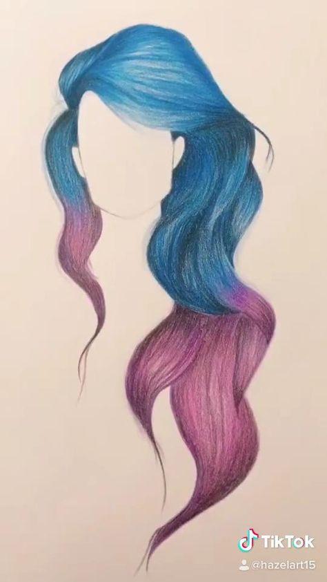 #hairstyles #hair #hairsketch #haircolour