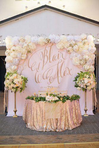 Pin By A Olivier On Wedding Stuff In 2020 Wedding Cake Backdrop Rose Gold Wedding Decor Wedding Backdrop Decorations