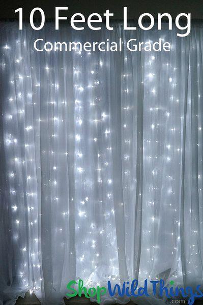 Led Light Curtain 200 Pure White Lights 10 Strands 4 W X 10