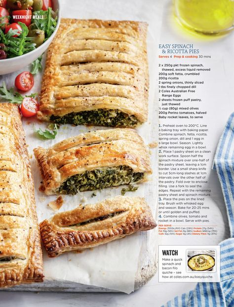 Coles Magazine May 2018 In 2019 Ricotta Pie Spinach