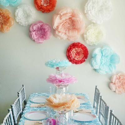 20 Peony Lavender 3d Wall Large Tissue Paper Flowers Wholesale