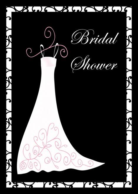Bridal Shower Invitation Cards White