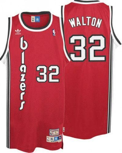 cheap for discount ea620 19cc0 Blazers #32 Bill Walton Red Throwback Stitched NBA Jersey ...