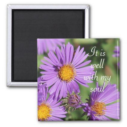 It Is Well With My Soul New England Aster Magnet Flower Gifts Floral Flowers Diy Flower Magnets It Is Well With My Soul Flowers Diy