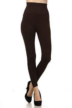 d0b67a71410f98 M Rena High Waisted Tummy Tuck Leggings One Size Fits Most in Brown Visit  the i