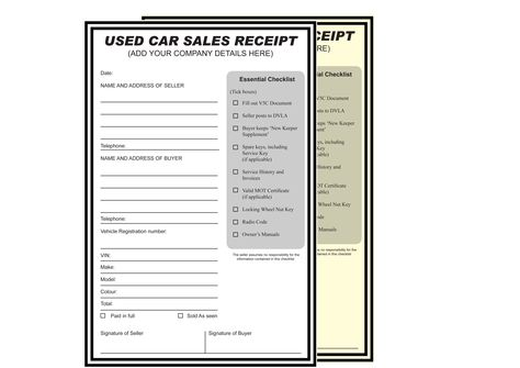 Used Car Sales Receipt NCR Pads \/ Books Please visit  http - cash sale receipt