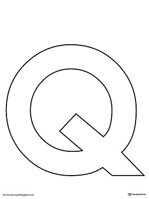 Uppercase Letter Q Template Printable Letter Q Crafts Lettering