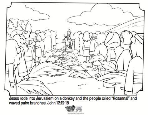 Palm sunday crafts on pinterest palm sunday donkeys and for Palm sunday coloring pages
