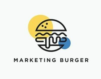 Marketing Burger Logo Design Logo Design Inspiration Creative Cafe Logo Design Food Logo Design