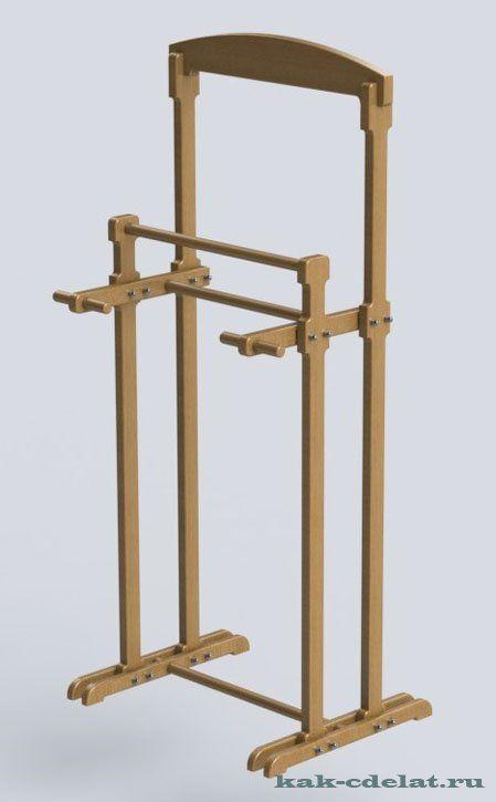 деревянная напольная вешалка для одежды своими руками