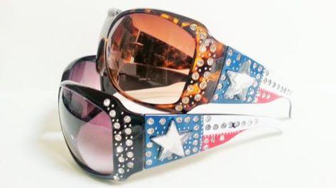 8fe34433d740 Womens-Fashion-Sunglasses-Rhinestones-Lone-Star-Western-Style-Bling ...