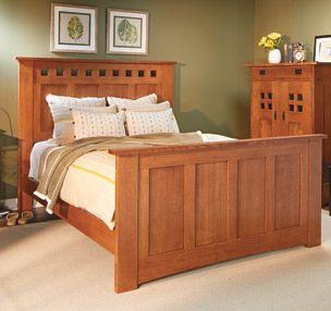 Classic Craftsman Bed Woodsmith Plans Quartersawn White Oak