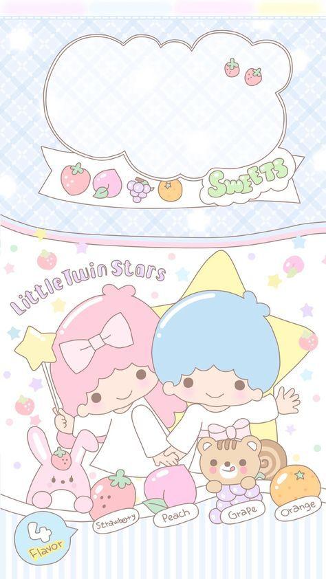 Best Wallpaper Pastel Iphone Kawaii Little Twin Stars Ideas Little Twin Stars Sanrio Wallpaper Kawaii Wallpaper
