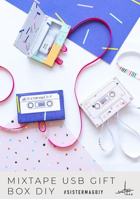 Mixtape Usb Gift Box Diy Zum Selbermachen Kassetten Aus
