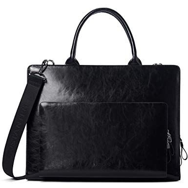 97170d368da2 BOSTANTEN Leather Briefcase Shoulder Laptop Business Vintage Slim ...