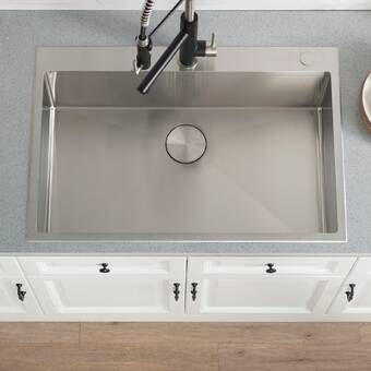 Akdy 33 X 22 Drop In Top Mount Stainless Steel Single Bowl Kitchen Sink W Adjustable Tray And Dra Drop In Kitchen Sink Single Bowl Kitchen Sink Kitchen Sink 33 x 22 kitchen sink single bowl
