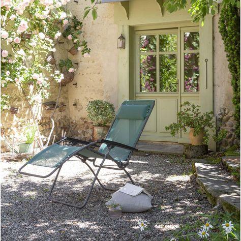 Relax De Jardin En Acier Batyline Chlorophylle Lafuma En 2020 Chaise Exterieur Acier Et Tube Acier