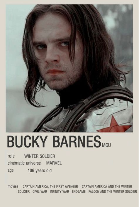 Bucky Barnes/ winter soldier minimalist movie poster